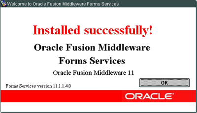 Oracle Fusion Middleware - Oracle Forms Services 11g